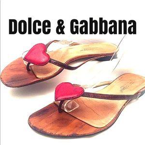Dolce & Gabbana Eel Skin Sandals Sz 38